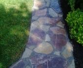 Natural stone walk