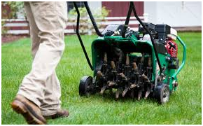 Aerate Home Lawn